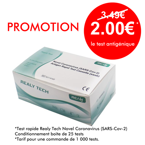 Promotion Test antigénique Realy Tech - AITECH SANTE